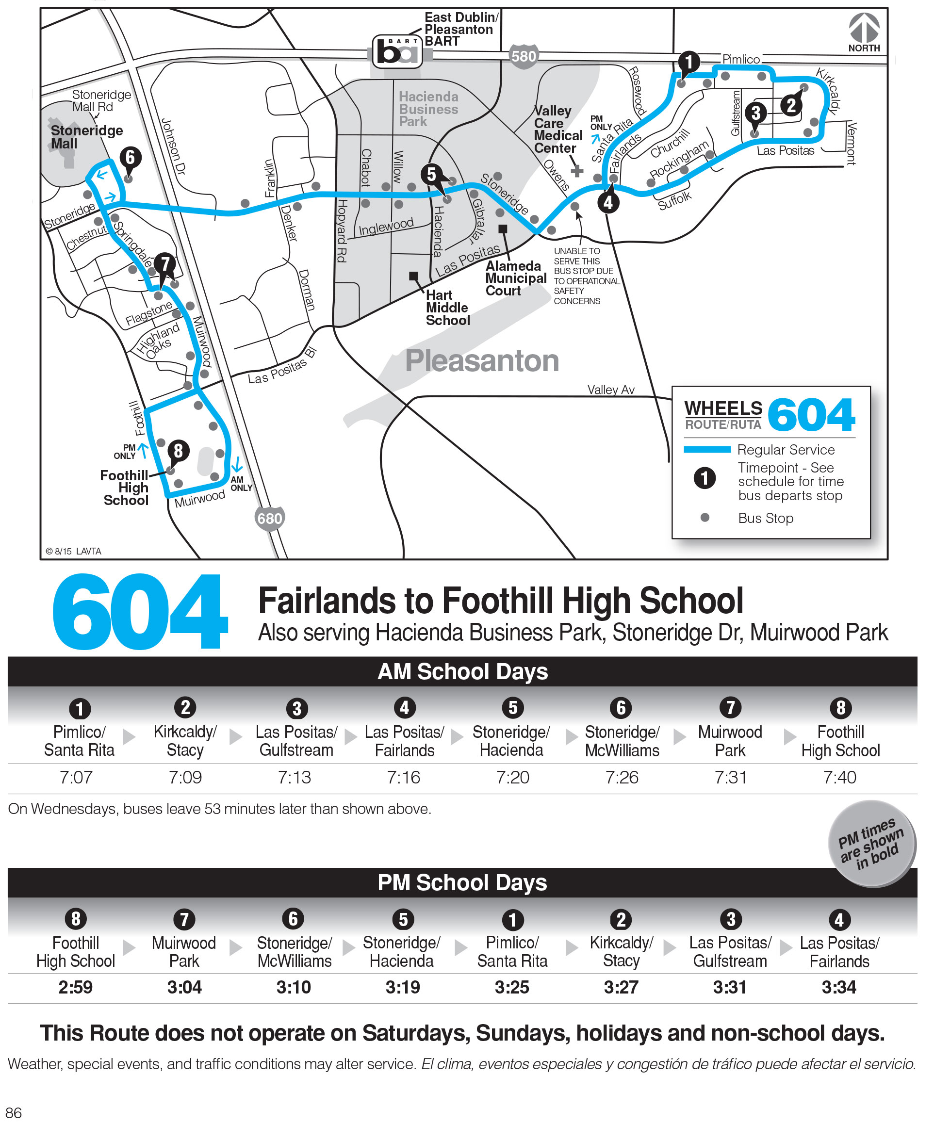 Foothill High School Campus Map