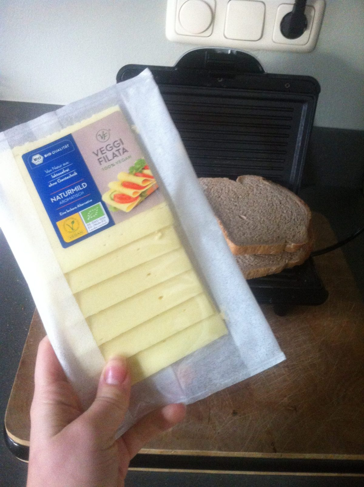 Trying vegan cheese