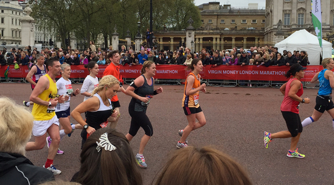 Runners in the 2015 London Marathon