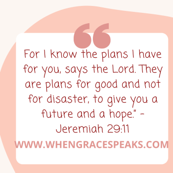 For I know what plans I have for you says the Lord.