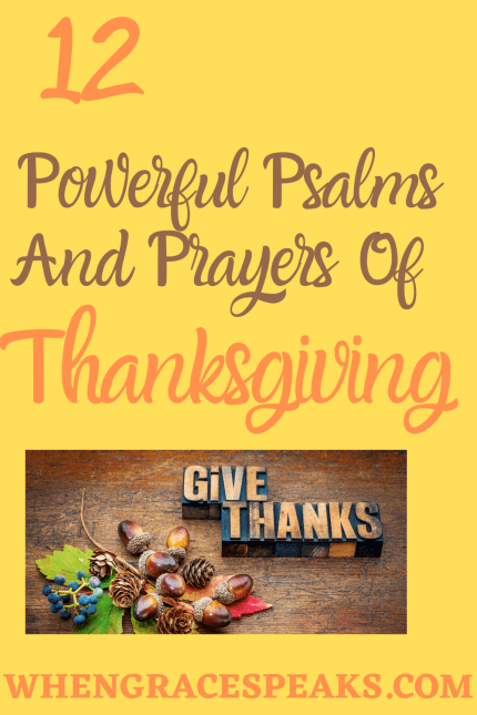 Powerful Psalms and prayers of thanksgiving