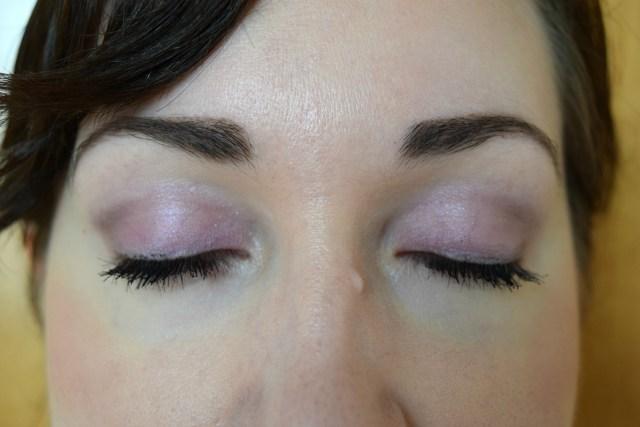 Benecos eyeshadow quad on the eyes
