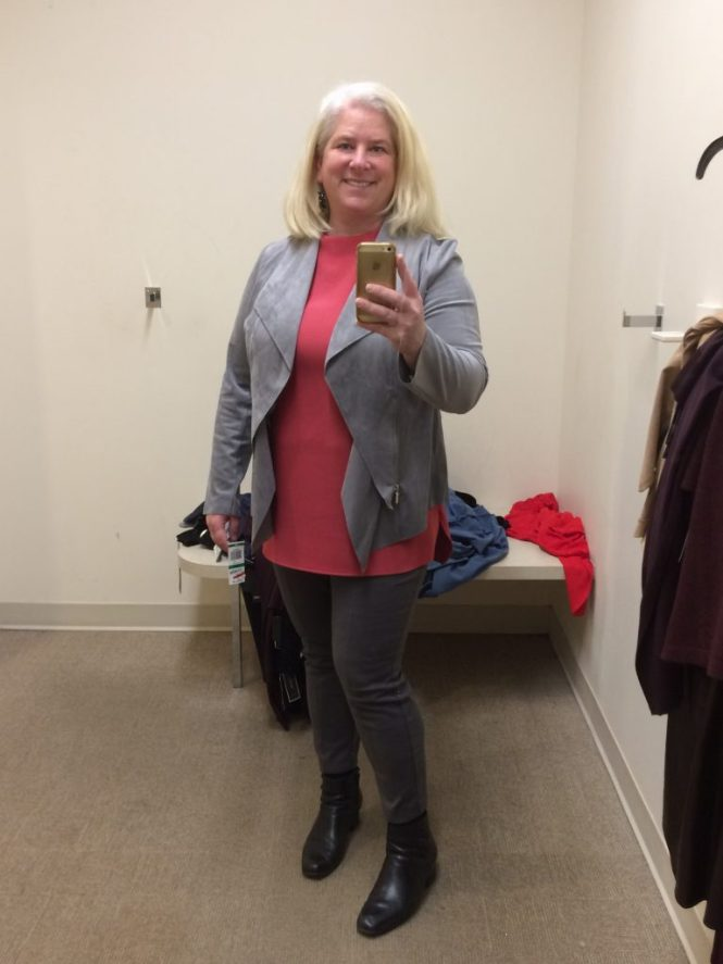 Faux Suede Jacket - www.whenthegirlsrule.com