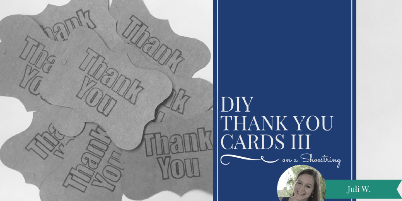 Click here to check out another simple and quick design for thank you cards.