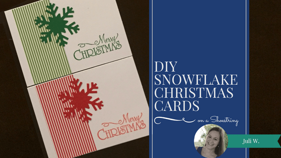 Check out this tutorial for a quick and easy handmade Christmas card that features a snowflake!