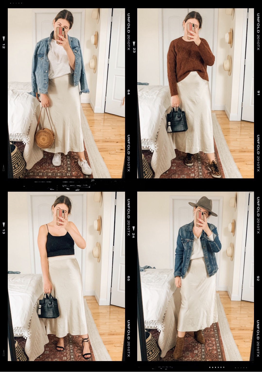 Silk Skirt Styled 5 Ways from Summer to Fall