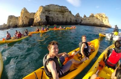 Kayaking, Lagos, Portugal