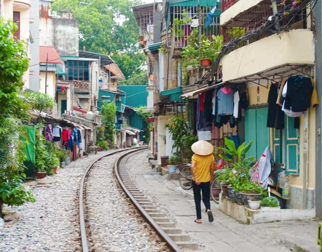 Visiting Train Street Hanoi