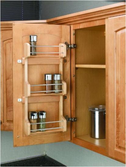 inside cabinet door spice rack - inside kitchen cabinet door storage