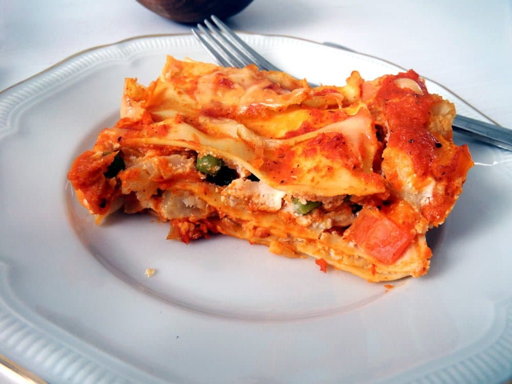 vegetable lasagna Roasted Vegetable Lasagna