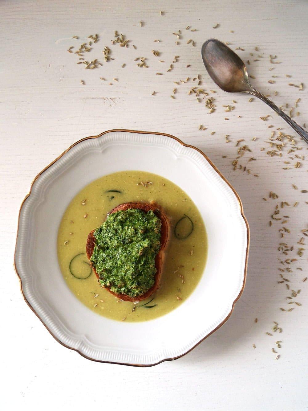 zucchini soup souffle bague Zucchini Soup and Soufflés