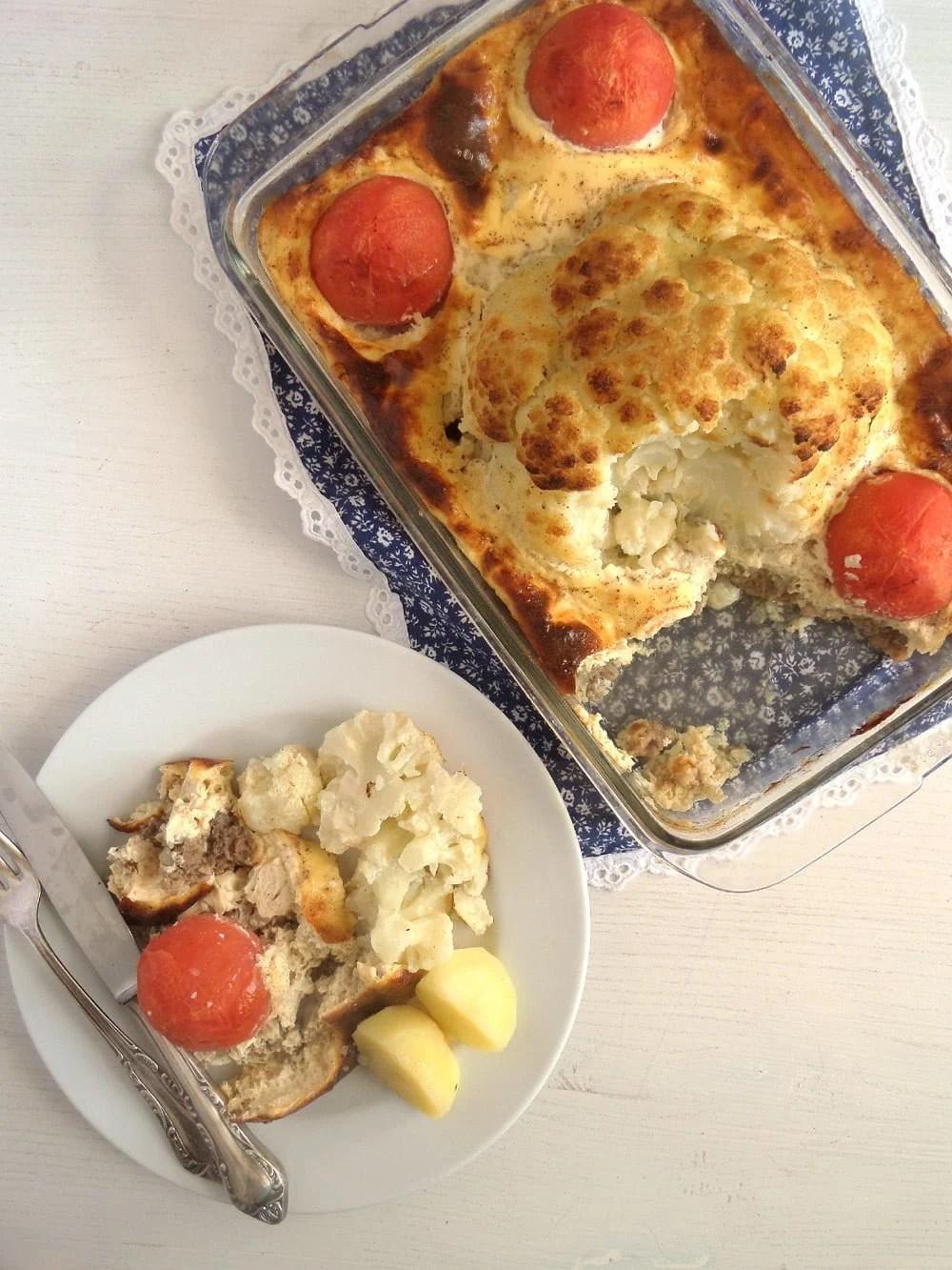 cauliflower beef tomato cas Cauliflower Beef Casserole
