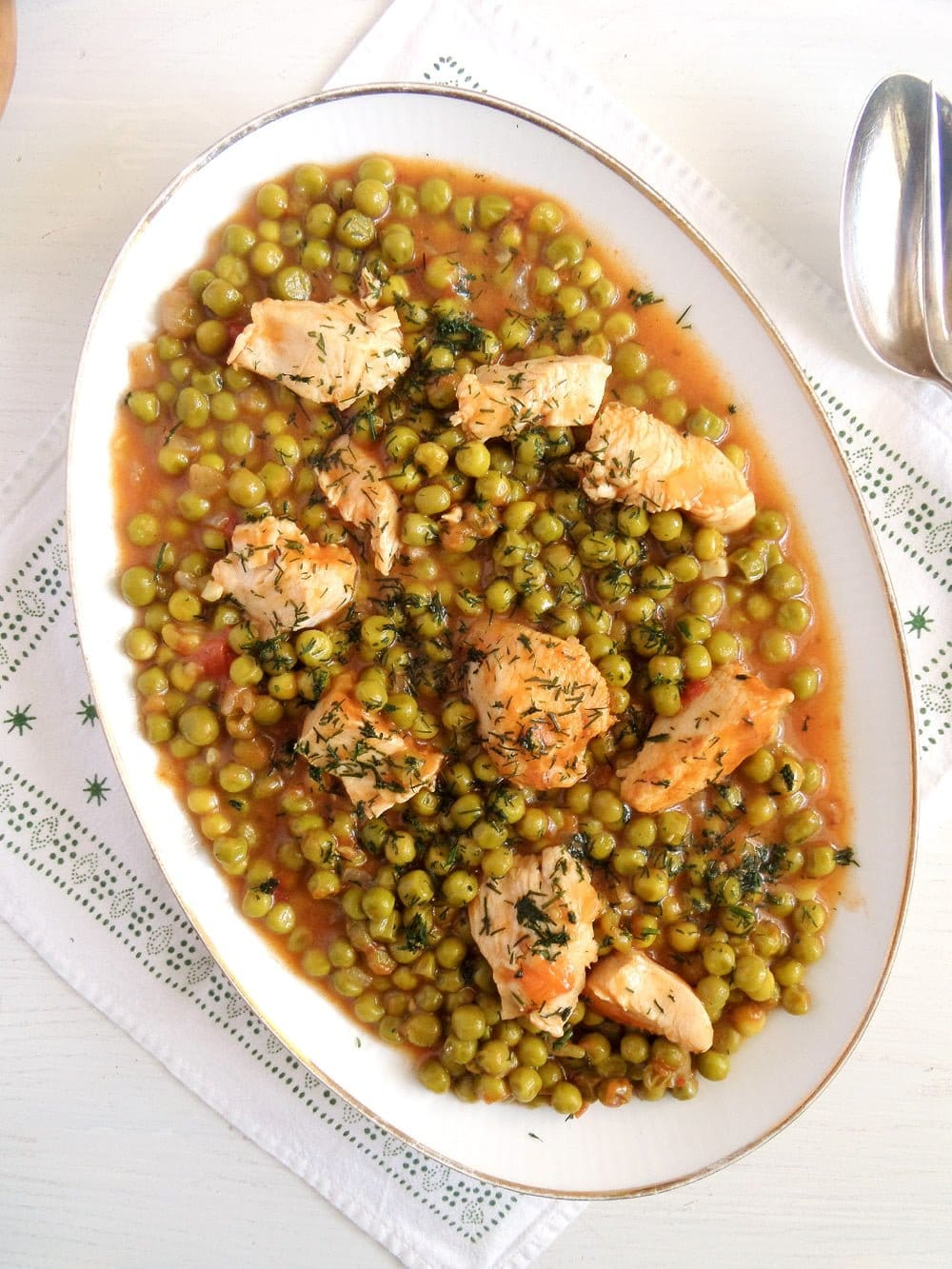 pea chicken stew romanian Romanian Pea and Chicken Stew