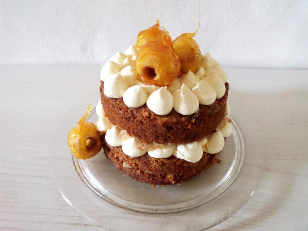 apple white chocolate cake Apple Caramel Cake with Whole Baked Apples