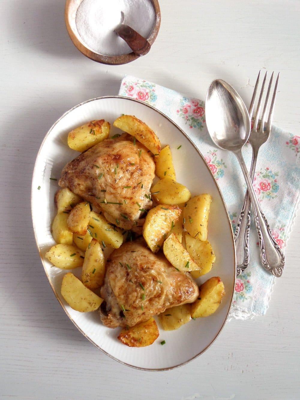 chicken thighs Baked Chicken Thighs, Basic Recipe