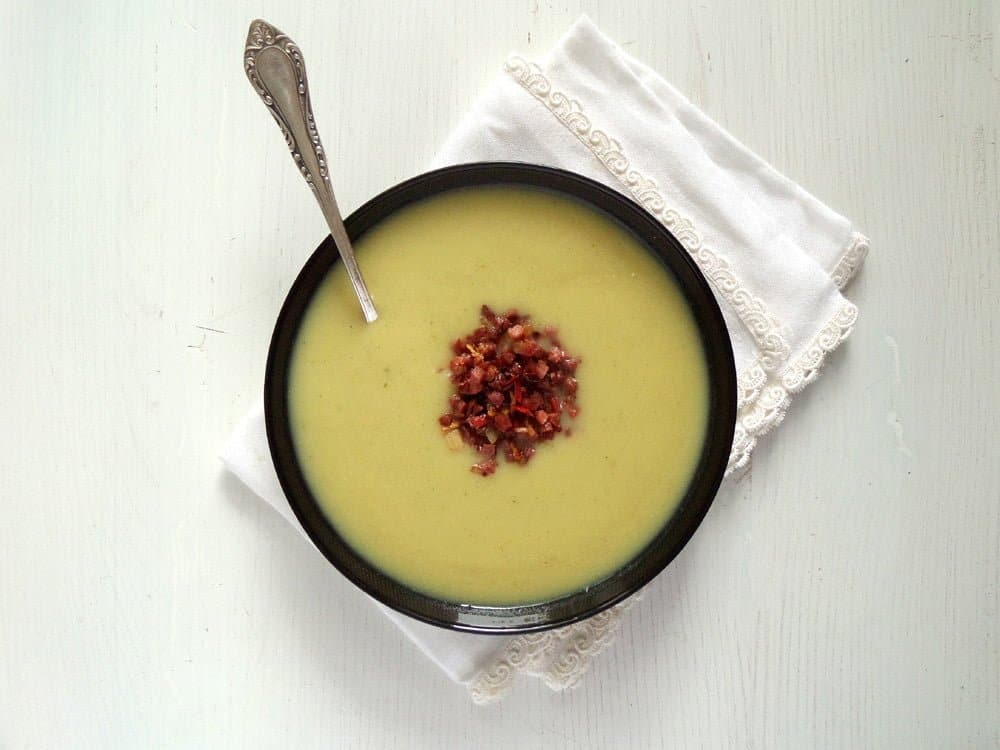 jerusalem sunchoke soup Sunchoke Soup with Bacon Topping
