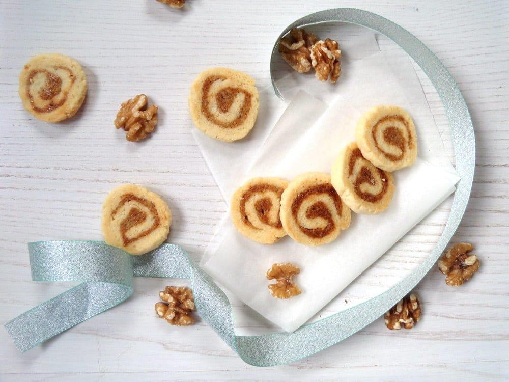 walnut cookies pastry Walnut Marzipan Cookies
