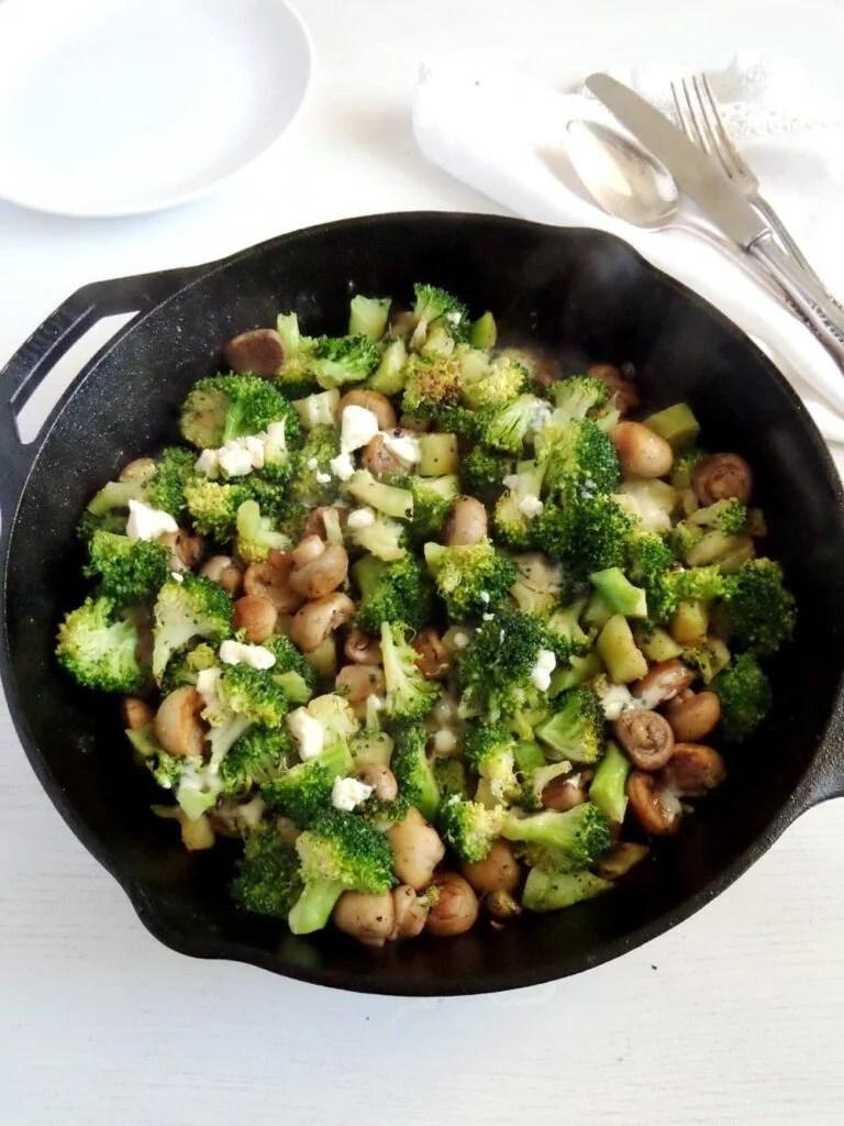 broccoli mushrooms 768x1024 Broccoli and Mushrooms with Blue Cheese