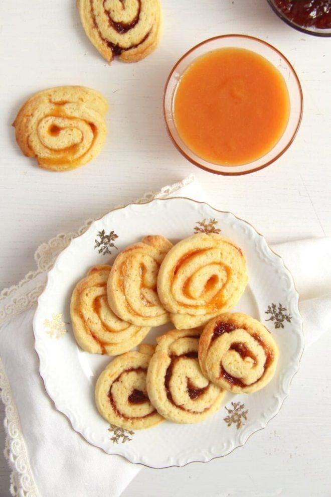 orange swirls jam 683x1024 Orange and Jam Swirl Cookies
