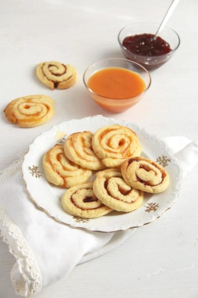 orange swirls orange jam 683x1024 Orange and Jam Swirl Cookies