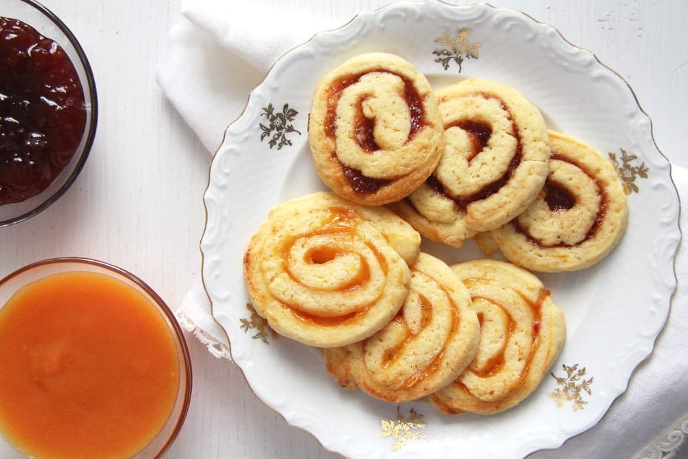 orange swirls Muesli Peanut Butter Cookies with Cinnamon and Cranberries