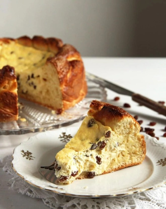 romanian cheesecake 816x1024 Romanian Easter Cheesecake – Pasca