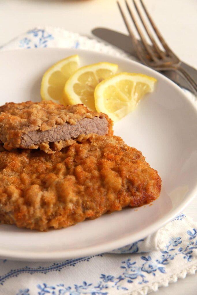 wiener schnitzel original 683x1024 Wiener Schnitzel   Classic Austrian Schnitzel with Veal Escalopes