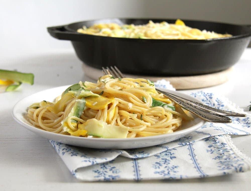 spaghetti zucchini Spaghetti with Zucchini and Goat Cheese