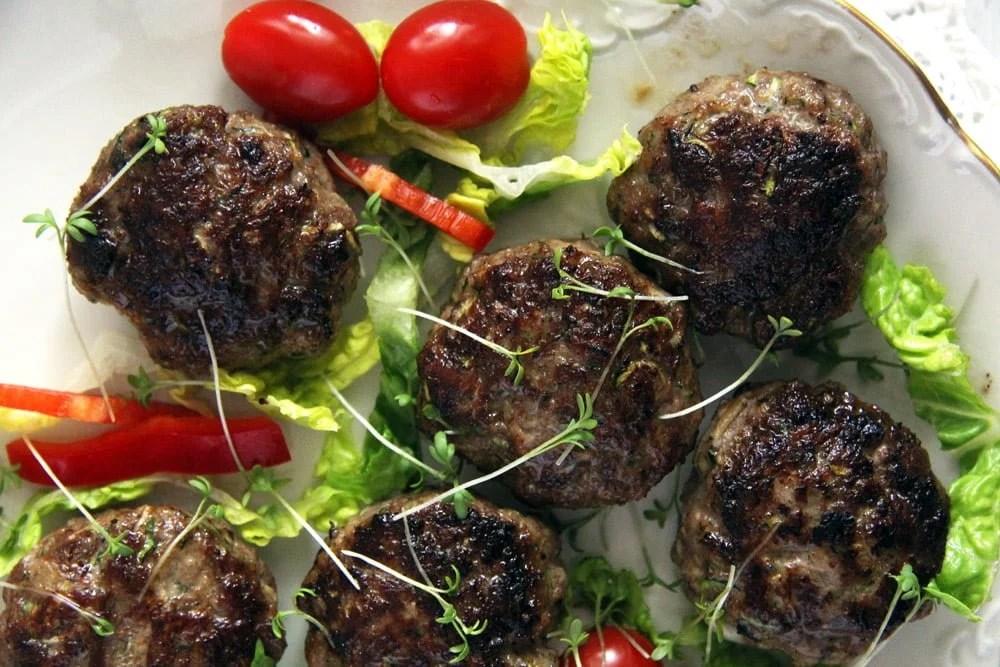 zucchini meatballs salad Zucchini Beef Meatballs