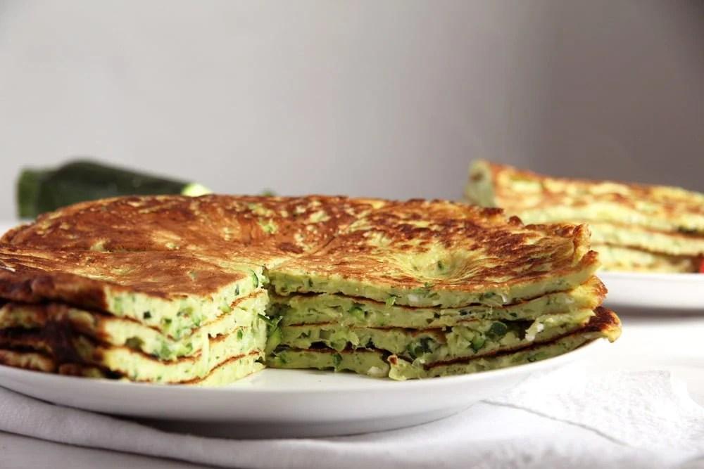 zucchini pancake Zucchini Feta Pancakes