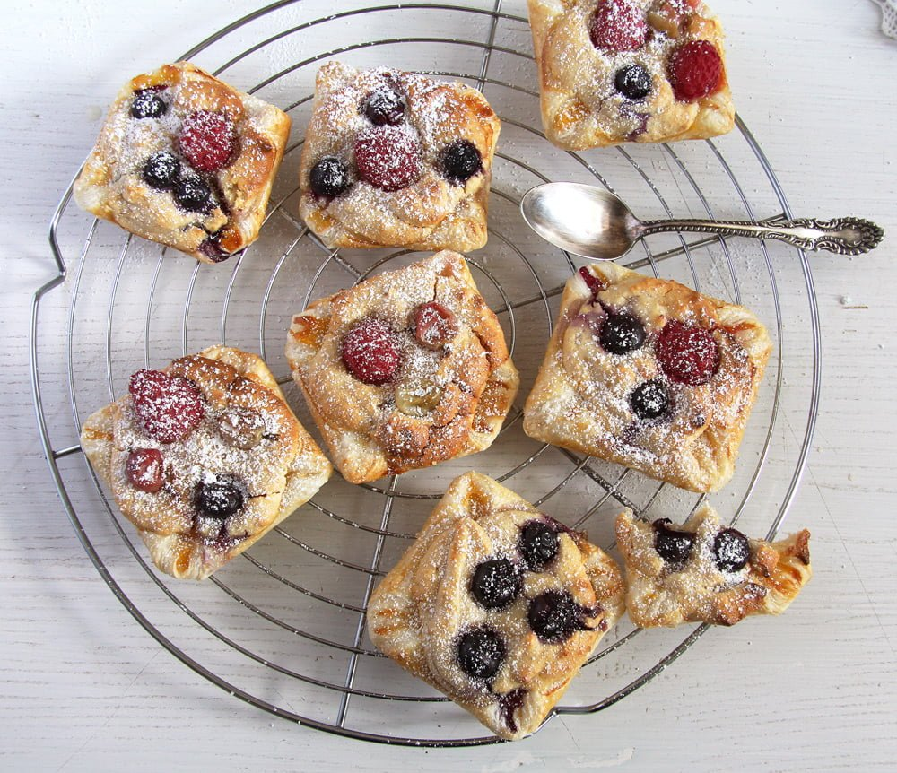 marzipan berries pastry Marzipan Berry Parcels