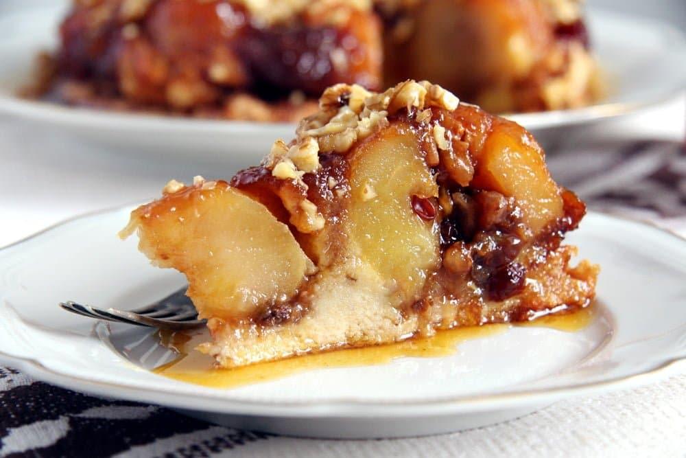 apple caramel cake slice Apple Caramel Cake