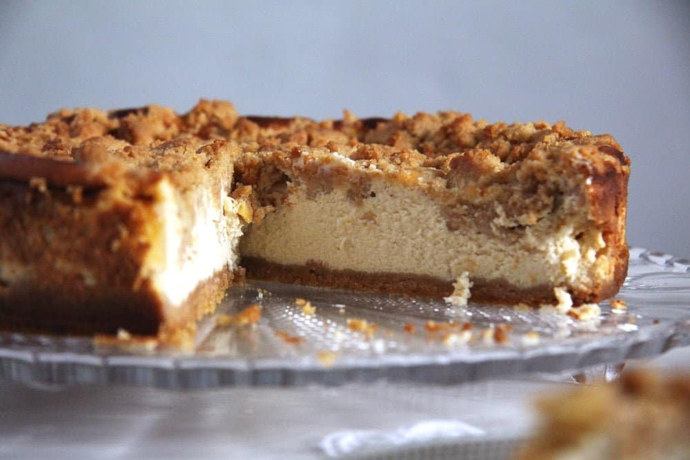 apple cheesecake cream chee Apple Streusel Cheesecake