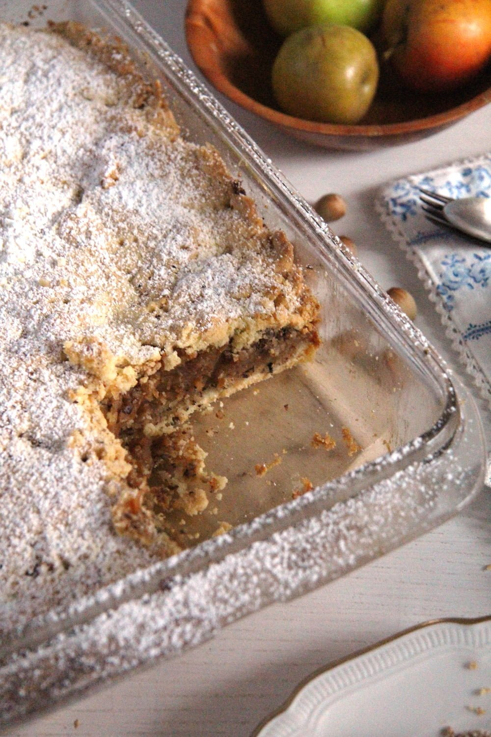 apple hazelnut Flaky Apple Hazelnut Pie with Cinnamon