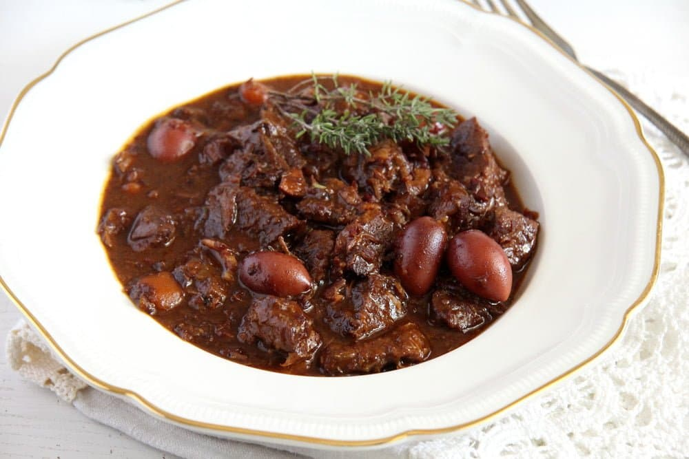 french beef stew French Beef Stew with Olives