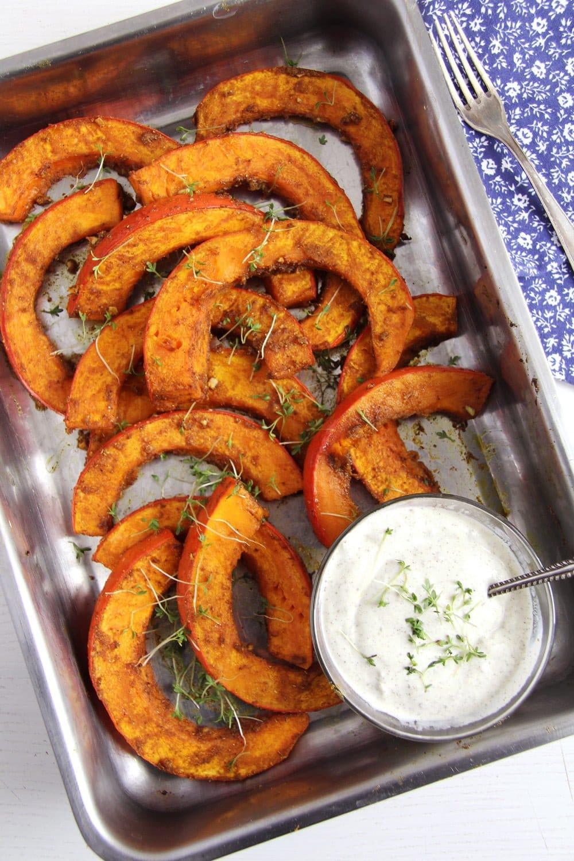 roasted pumpkin spicy Spicy Roasted Pumpkin Wedges