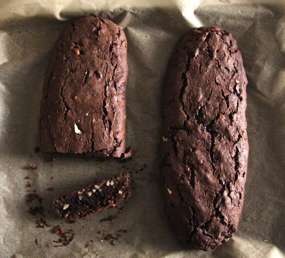 hazelnut biscotti loaf Hazelnut Chocolate Biscotti