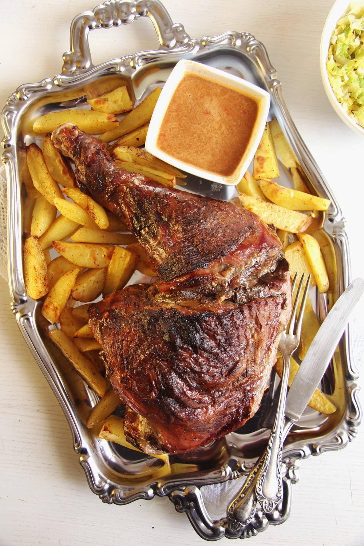 turkey leg potatoes Oven Slow Cooked Turkey Leg