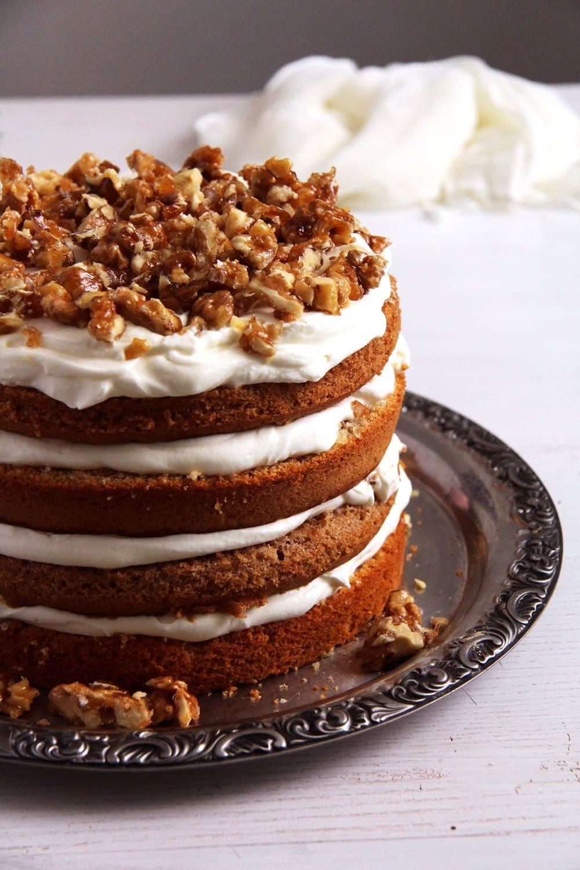 walnut quark cake Caramelized Walnut Cake