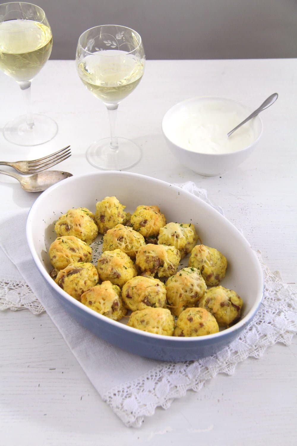 polenta balls sausage Polenta and Cheese Balls