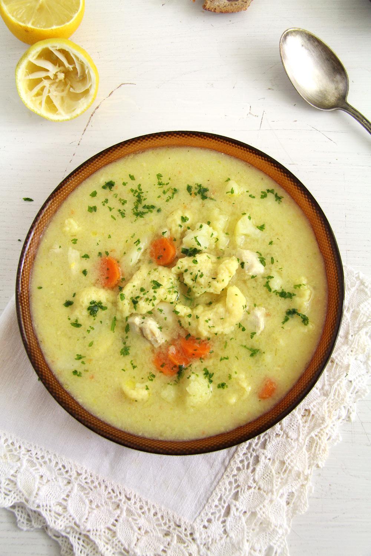 cauliflower soup parsley Chicken Cauliflower Soup