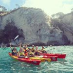 sea kayaking cathedral cove new zealand