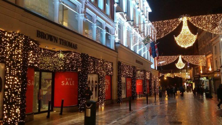 Grafton street at christmas musical landmarks of Ireland where is tara