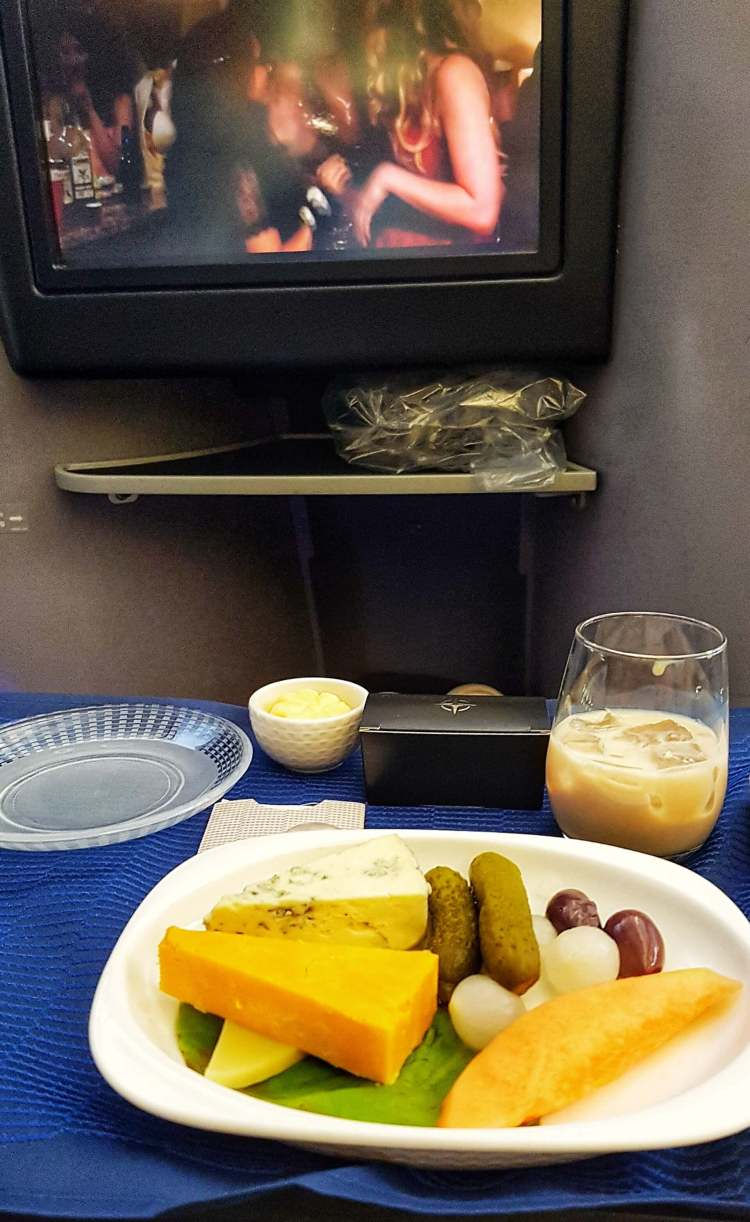 united polaris business class dublin to chicago review