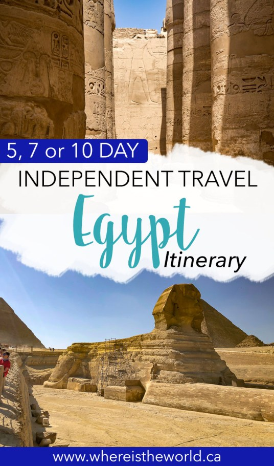 The ultimate Egypt itinerary for 5, 7 or 10 days. Includes everything you need to know before you go to Egypt, with costs, opening hours and suggestions on where to stay and how to get around. #egyptitinerary #travelegypt #middleeasttravel #egypt