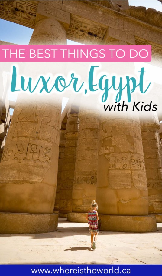 There are so many things to do in Luxor With Kids it can be hard to know where to start. Start here to plan your perfect trip to Luxor with kids! #luxoregypt #travelwithkids #familytravel #middleeast #africawithkids #egyptwithkids