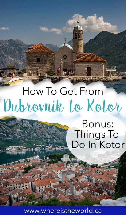 Dubrovnik to Kotor2