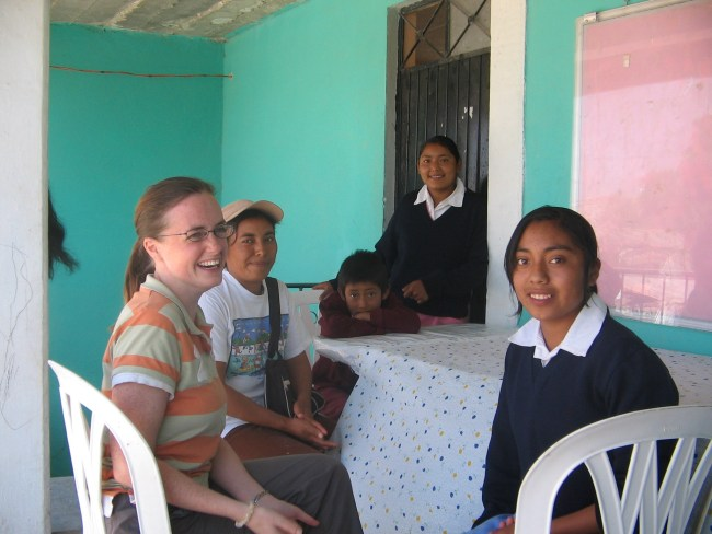with my sponsor child and her family in mexico
