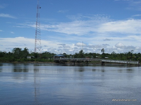 Suriname border post from ferry