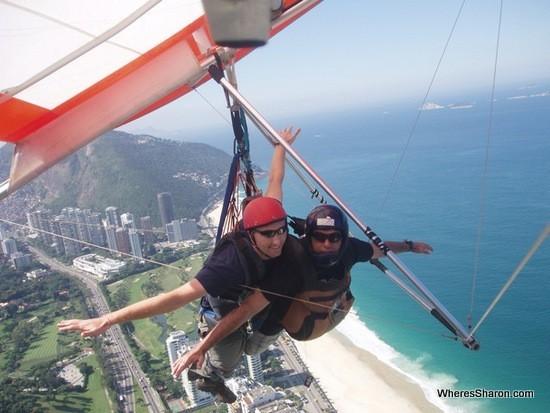 Hang gliding over rio